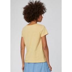 T-shirt en chanvre et coton bio rayé bleu ou jaune