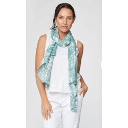 check scarf bamboo blue or green