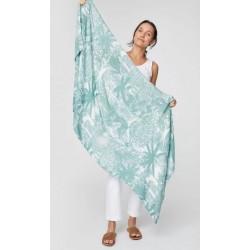 Foulard en bambou bleu ou vert