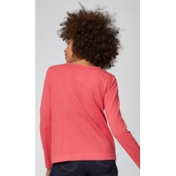 Pull en laine et coton bio rose rhubarbe