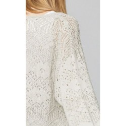 Cardigan long chanvre