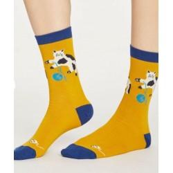 Chaussettes bio femme bambou chat