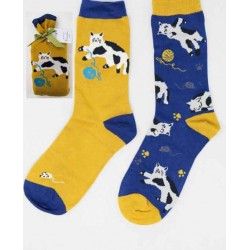 Chaussettes bio femme bambou chat