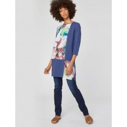 Natural woven tencel top tunic