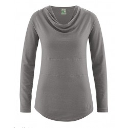 T-shirt woman in hemp grey tin