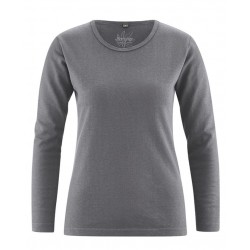 T-shirt manches longues gris ou vert