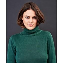 Col roulé en chanvre et coton bio femme: 2 coloris au choix