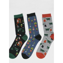 Pack 3 paires de chaussettes en bambou homme colorée
