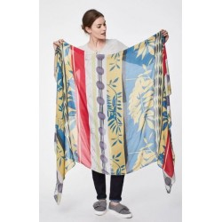Foulard 100%  fibre de bambou motif vintage