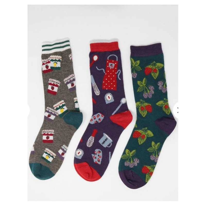 3 socks in bamboo and organic cotton for women