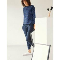 jogging femme bleu marine bambou coton bio