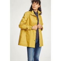 veste Imperméable 100% coton bio jaune moutarde