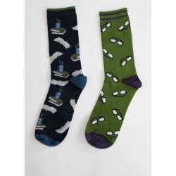 Pack 2 paires de chaussettes en bambou homme