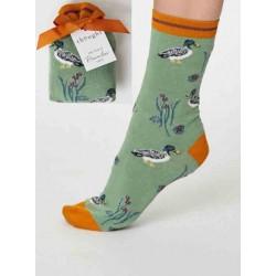 Chaussettes bio femme bambou coeurs