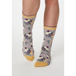 two pairs of woman socks in a fun sock bag printed dog