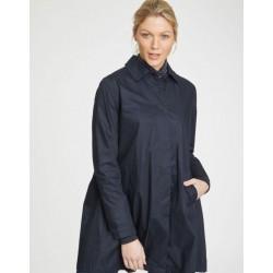 Manteau imperméable bleu bio