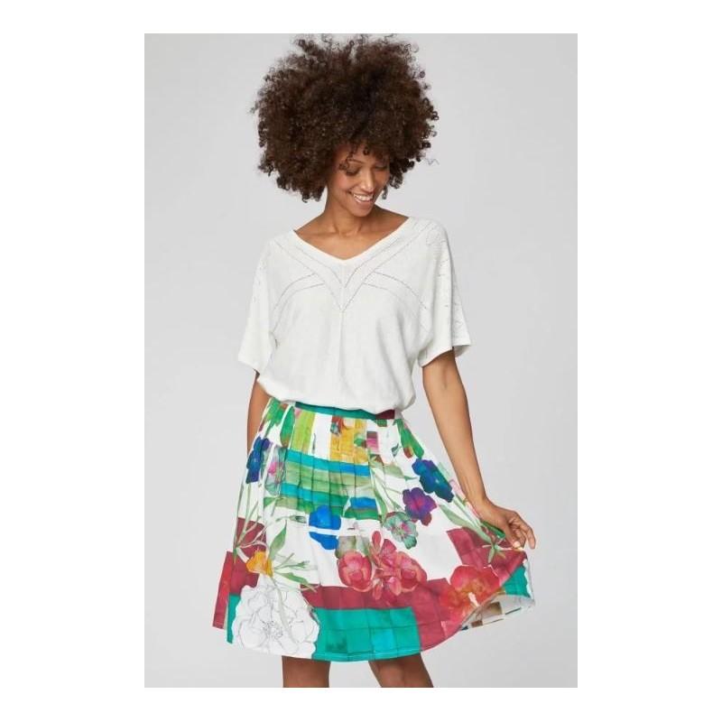 floral lyocell skirt