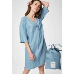 Blue Hemp Nightie with bag
