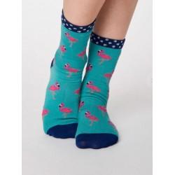 flamingo socks feature an...