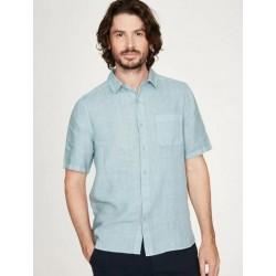 100% Hemp blue shirt for men