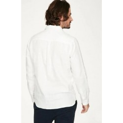 Chemise 100% chanvre blanche manches longues