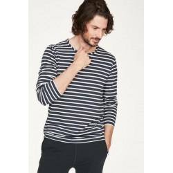 men hemp t-shirt blue with...