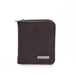 Portefeuille en chanvre et coton bio : kaki ou gris