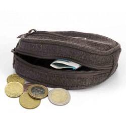 Porte-monnaie en chanvre et coton bio : kaki, gris, prune