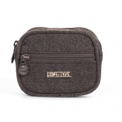 Hemp and cotton organic Coin Pouch