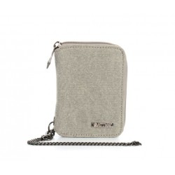 Hemp and cotton organic wallet : grey, plum or natural
