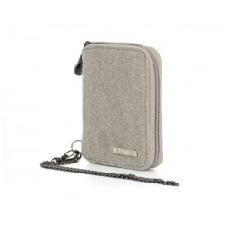 Hemp and cotton organic wallet : grey, plum or natural