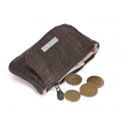 Petit porte-monnaie en chanvre et coton bio : kaki, gris, prune