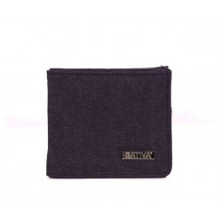 Hemp and cotton organic wallet plum