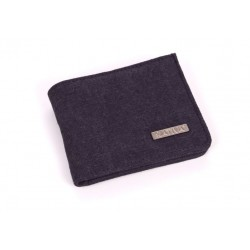 Hemp and cotton organic wallet plum