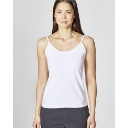 Fine straps top : white or taupe