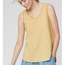 Women's Hemp Vest top: yellow or blue