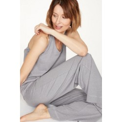 Hemp Pyjama Top In Pebble Grey