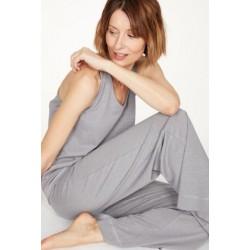 Hemp Pyjama Top In Pebble Grey