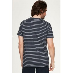 Striped hemp t-shirt for Men short sleeve : Blue or White