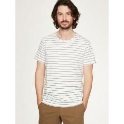 Striped hemp t-shirt for Men short sleeve : Blue or White