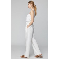 white 100% hemp trousers for woman