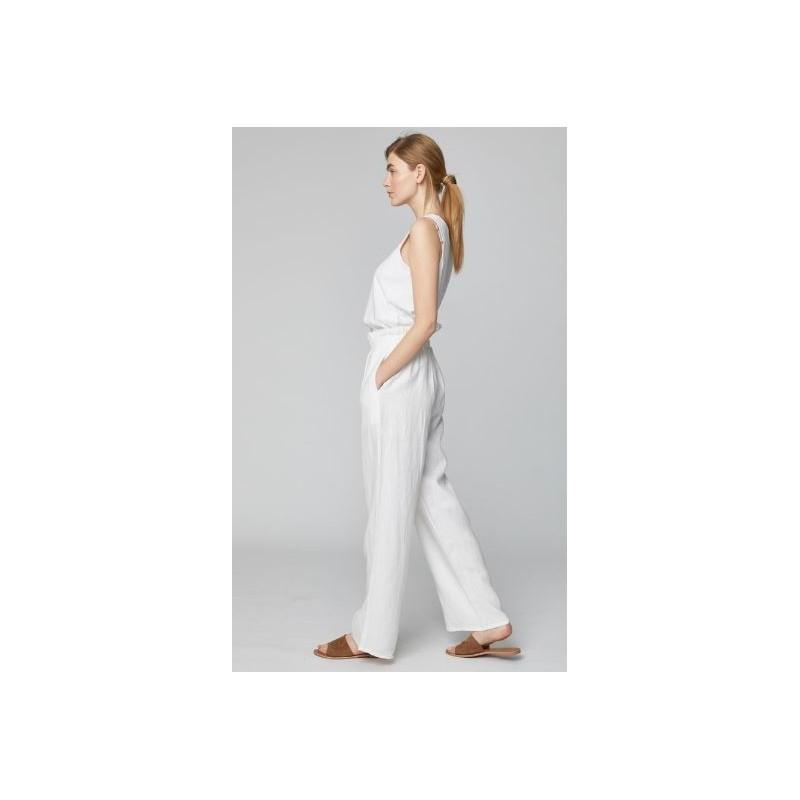 Pantalon 100% chanvre blanc Femme