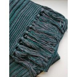 Écharpe en chanvre et coton bio recyclés à franges