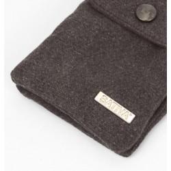 Sac pochette bandoulière en chanvre et coton bio : prune, kaki ou gris