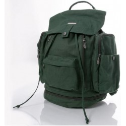 Hemp Multi Pocket KnapSack : Grey or green