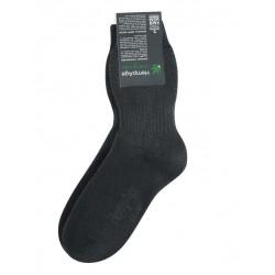 Chaussettes épaisses en chanvre et coton bio naturelles : noires ou blanches