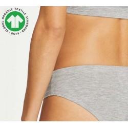 Grey Womens Organic Cotton Underwear bikini