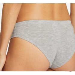 Culotte bikini en coton bio grise