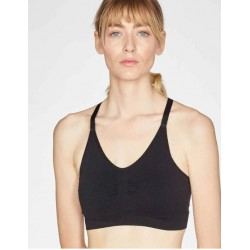 Black Recycled Nylon Bralette