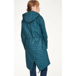 Organic Cotton Printed Long Waterproof Parka